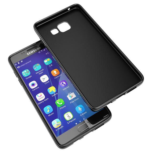 NALIA Handyhülle kompatibel mit Samsung Galaxy A5 2016, Ultra-Slim Silikon Case Hülle, Dünne Crystal Schutzhülle Etui Handy-Tasche Schale Back-Cover Bumper, TPU Smart-Phone Gummihülle - Matt Schwarz – Bild 6