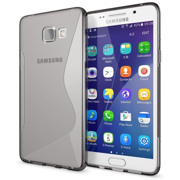 NALIA Handyhülle kompatibel mit Samsung Galaxy A5 2016, Ultra-Slim Silikon Case Hülle, Dünne Crystal Schutzhülle Etui Handy-Tasche Schale Back-Cover Bumper, TPU Smart-Phone Gummihülle - S-Line Grau – Bild 1