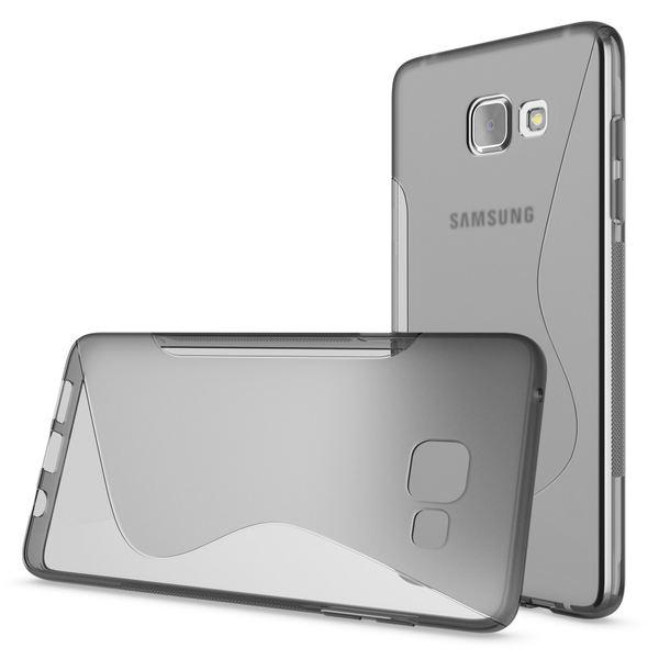 NALIA Handyhülle kompatibel mit Samsung Galaxy A5 2016, Ultra-Slim Silikon Case Hülle, Dünne Crystal Schutzhülle Etui Handy-Tasche Schale Back-Cover Bumper, TPU Smart-Phone Gummihülle - S-Line Grau – Bild 4