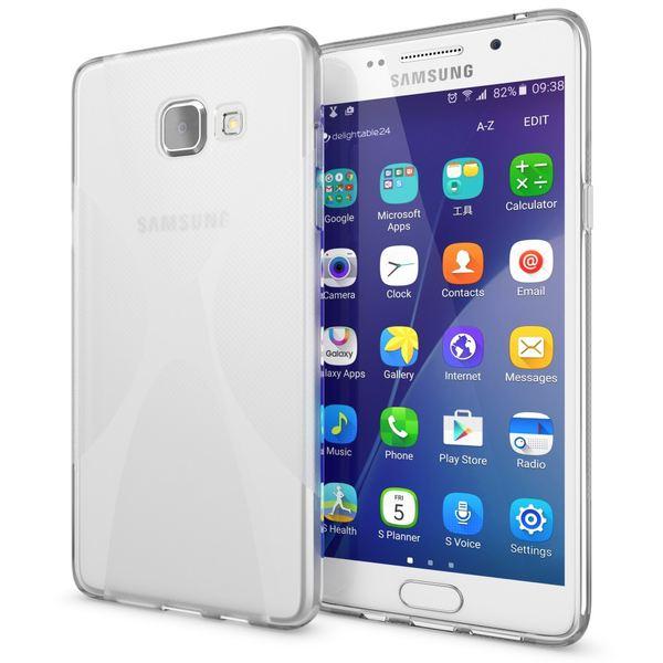 NALIA Handyhülle kompatibel mit Samsung Galaxy A5 2016, Ultra-Slim Silikon Case Hülle, Dünne Crystal Schutzhülle Etui Handy-Tasche Back-Cover Bumper, TPU Smart-Phone Gummihülle - X-Line Transparent  – Bild 1