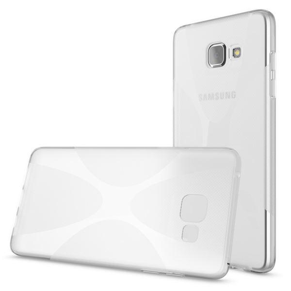 NALIA Handyhülle kompatibel mit Samsung Galaxy A5 2016, Ultra-Slim Silikon Case Hülle, Dünne Crystal Schutzhülle Etui Handy-Tasche Back-Cover Bumper, TPU Smart-Phone Gummihülle - X-Line Transparent  – Bild 3