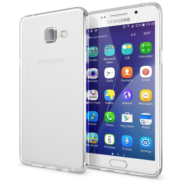 NALIA Handyhülle kompatibel mit Samsung Galaxy A3 2016, Ultra-Slim Silikon Case Hülle, Dünne Crystal Schutzhülle Etui Handy-Tasche Back-Cover Bumper, TPU Smart-Phone Gummihülle - Transparent Weiß – Bild 1