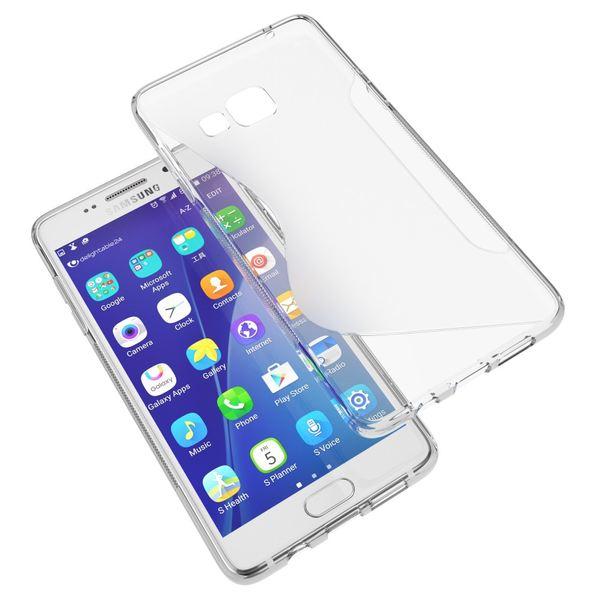 NALIA NALIA Handyhülle kompatibel mit Samsung Galaxy A3 2016, Ultra-Slim Silikon Case Hülle, Dünne Crystal Schutzhülle Etui Handy-Tasche Back-Cover Bumper, TPU Phone Gummihülle - S-Line Transparent – Bild 6