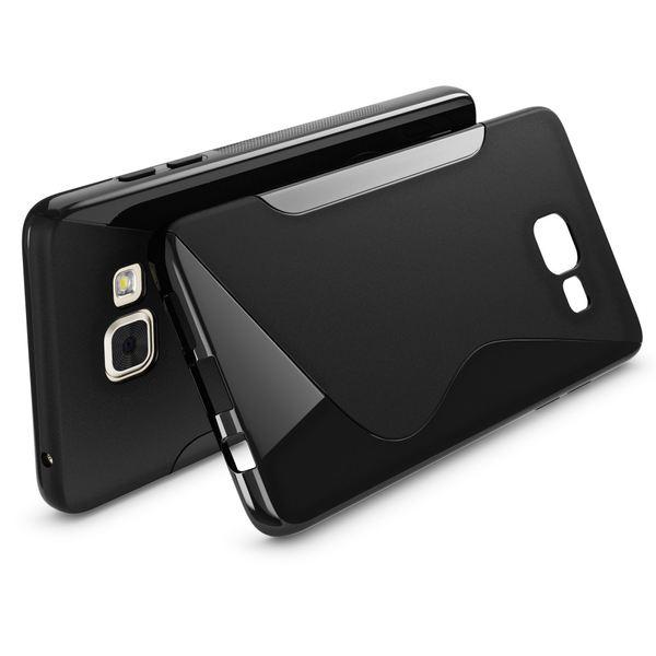 NALIA Handyhülle kompatibel mit Samsung Galaxy A3 2016, Ultra-Slim Silikon Case Hülle, Dünne Crystal Schutzhülle Etui Handy-Tasche Back-Cover Bumper, Thin TPU Smart-Phone Gummihülle - S-Line Schwarz – Bild 2