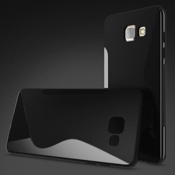 NALIA Handyhülle kompatibel mit Samsung Galaxy A3 2016, Ultra-Slim Silikon Case Hülle, Dünne Crystal Schutzhülle Etui Handy-Tasche Back-Cover Bumper, Thin TPU Smart-Phone Gummihülle - S-Line Schwarz – Bild 4