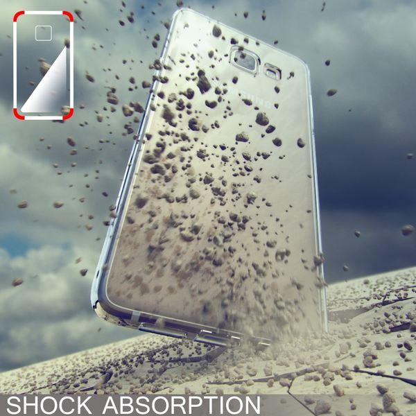 NALIA Handyhülle kompatibel mit Samsung Galaxy A3 2016, Ultra-Slim Silikon Case Hülle, Dünne Crystal Schutzhülle Etui Handy-Tasche Schale Back-Cover Bumper, TPU Smart-Phone Gummihülle - S-Line Grau – Bild 5