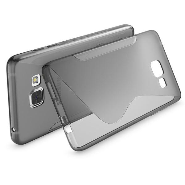 NALIA Handyhülle kompatibel mit Samsung Galaxy A3 2016, Ultra-Slim Silikon Case Hülle, Dünne Crystal Schutzhülle Etui Handy-Tasche Schale Back-Cover Bumper, TPU Smart-Phone Gummihülle - S-Line Grau – Bild 2