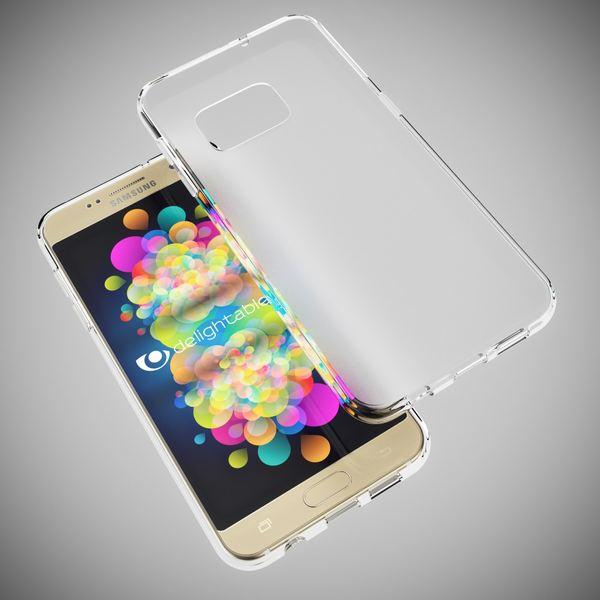 NALIA HandyhNALIA Handyhülle kompatibel mit Samsung Galaxy S7, Slim Silikon Case Cover Hülle, Dünne Crystal Schutzhülle Handy-Tasche Back-Cover Bumper, TPU Smart-Phone Gummihülle - Transparent Weiß – Bild 5