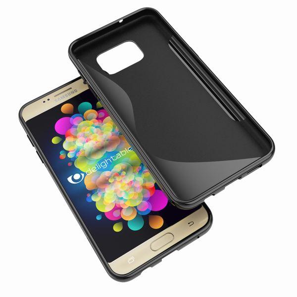 NALIA Handyhülle kompatibel mit Samsung Galaxy S7, Ultra-Slim Silikon Case Cover Hülle, Dünne Crystal Schutzhülle Etui Handy-Tasche Back-Cover Bumper, TPU Smart-Phone Gummihülle - S-Line Schwarz – Bild 6