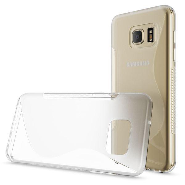 NALIA Handyhülle kompatibel mit Samsung Galaxy S7, Ultra-Slim Silikon Case Cover Hülle, Dünne Crystal Schutzhülle Etui Handy-Tasche Back-Cover Bumper, TPU Smart-Phone Gummihülle - S-Line Transparent – Bild 4