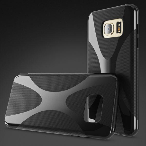 NALIA Handyhülle kompatibel mit Samsung Galaxy S7, Ultra-Slim Silikon Case Cover Hülle, Dünne Crystal Schutzhülle Etui Handy-Tasche Back-Cover Bumper, TPU Smart-Phone Gummihülle - X-Line Schwarz – Bild 4