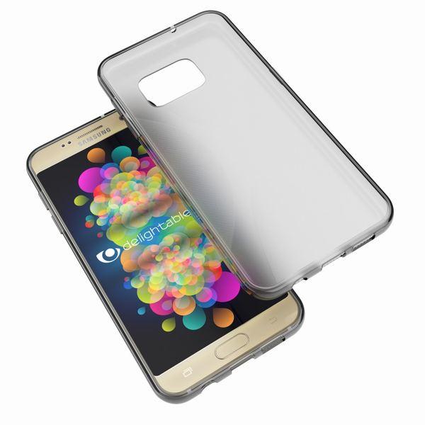 NALIA Handyhülle kompatibel mit Samsung Galaxy S7, Ultra-Slim Silikon Case Cover Hülle, Dünne Crystal Schutzhülle Etui Handy-Tasche Schale Back-Cover Bumper, TPU Smart-Phone Gummihülle - X-Line Grau – Bild 6