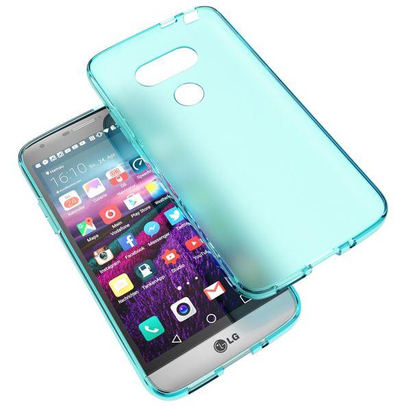 NALIA Handyhülle für LG G5, Ultra-Slim Silikon Case Cover, Dünne Crystal Schutzhülle, Etui Handy-Tasche Back-Cover Phone Bumper, TPU Gummihülle für LG-G5 Smartphone - Transparent Türkis – Bild 5