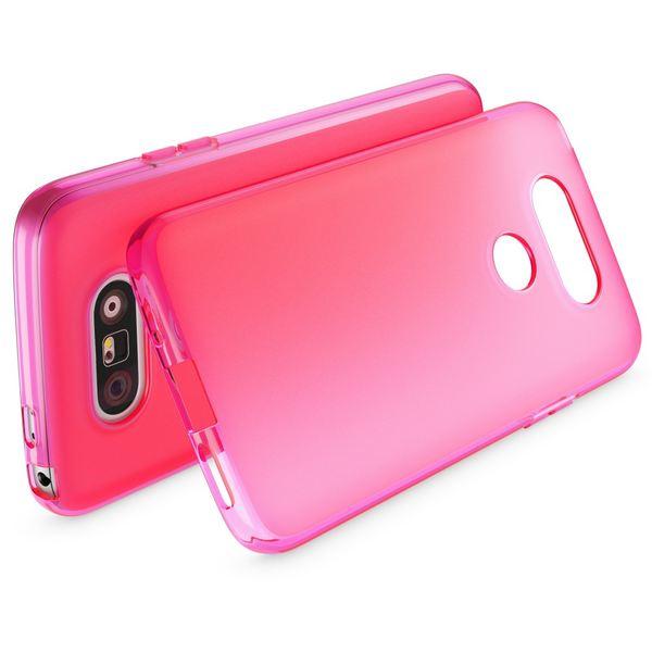 NALIA Handyhülle für LG G5, Ultra-Slim Silikon Case Cover, Dünne Crystal Schutzhülle, Etui Handy-Tasche Back-Cover Phone Bumper, TPU Gummihülle für LG-G5 Smartphone - Matt Pink – Bild 2