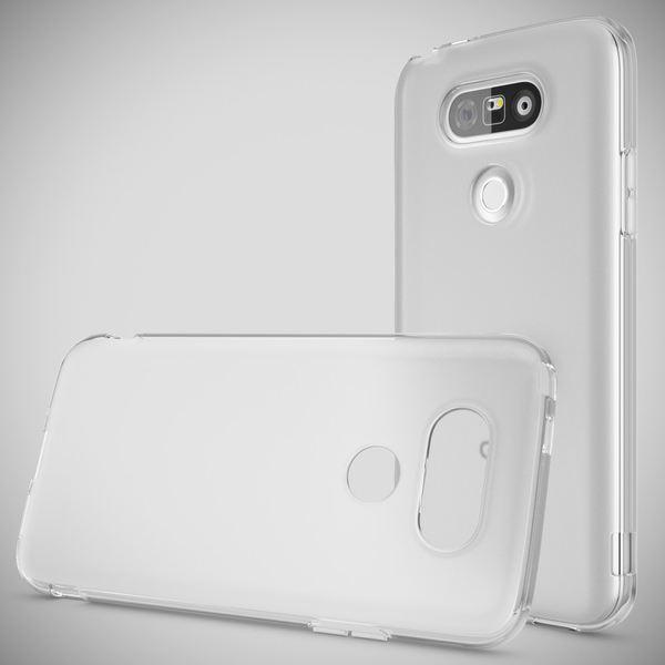 NALIA Handyhülle für LG G5, Ultra-Slim Silikon Case Cover, Dünne Crystal Schutzhülle, Etui Handy-Tasche Back-Cover Phone Bumper, TPU Gummihülle für LG-G5 Smartphone - Transparent Weiß – Bild 4