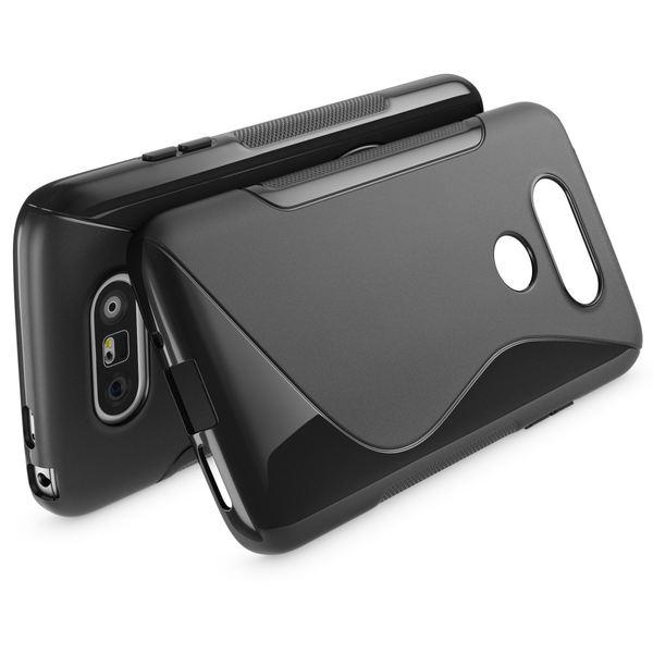 NALIA Handyhülle für LG G5, Ultra-Slim Silikon Case Cover, Dünne Crystal Schutzhülle, Etui Handy-Tasche Back-Cover Phone Bumper, TPU Gummihülle für LG-G5 Smartphone - S-Line Schwarz – Bild 2