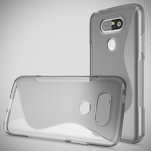NALIA Handyhülle für LG G5, Ultra-Slim Silikon Case Cover, Dünne Crystal Schutzhülle, Etui Handy-Tasche Back-Cover Phone Bumper, TPU Gummihülle für LG-G5 Smartphone - S-Line Grau – Bild 4