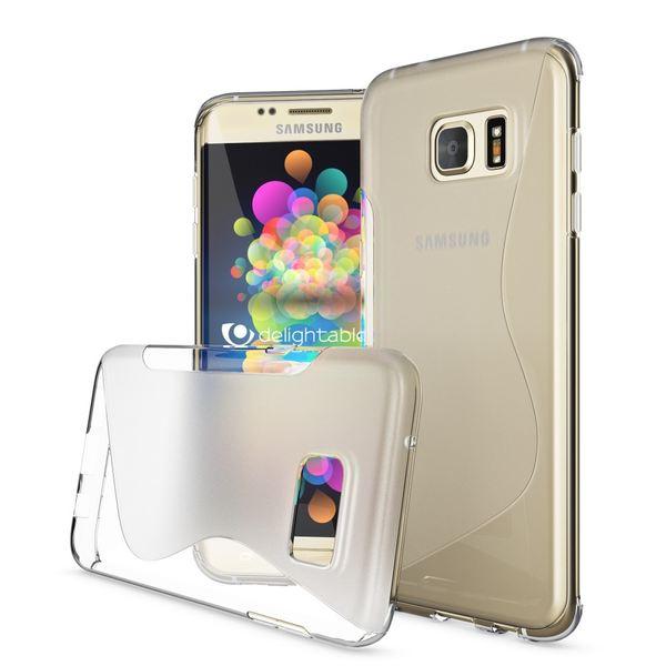 NALIA Handyhülle kompatibel mit Samsung Galaxy S7 Edge, Ultra-Slim Silikon Case Hülle, Dünne Crystal Schutzhülle Etui Handy-Tasche Back-Cover Bumper, TPU Smart-Phone Gummihülle - S-Line Transparent – Bild 2