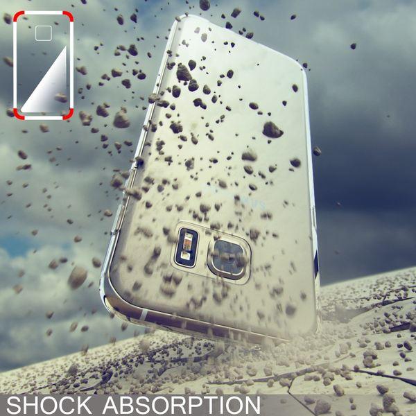 NALIA Handyhülle kompatibel mit Samsung Galaxy S7 Edge, Ultra-Slim Silikon Case Hülle, Dünne Crystal Schutzhülle Etui Handy-Tasche Back-Cover Bumper, TPU Smart-Phone Gummihülle - X-Line Transparent – Bild 6