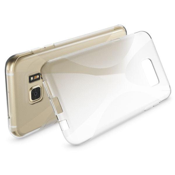 NALIA Handyhülle kompatibel mit Samsung Galaxy S7 Edge, Ultra-Slim Silikon Case Hülle, Dünne Crystal Schutzhülle Etui Handy-Tasche Back-Cover Bumper, TPU Smart-Phone Gummihülle - X-Line Transparent – Bild 3