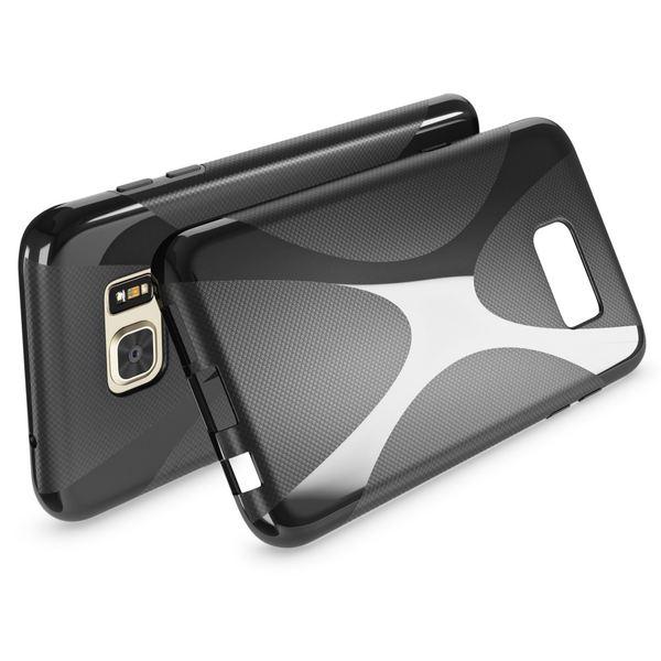 NALIA Handyhülle kompatibel mit Samsung Galaxy S7 Edge, Ultra-Slim Silikon Case Hülle, Dünne Crystal Schutzhülle Etui Handy-Tasche Schale Back-Cover Bumper TPU Smart-Phone Gummihülle - X-Line Schwarz – Bild 3