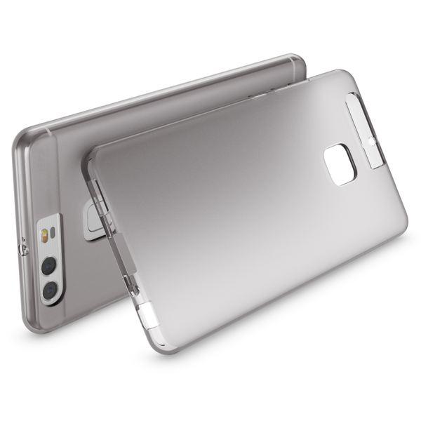 NALIA Handyhülle für Huawei P9, Ultra-Slim Silikon Case Cover Hülle, Dünne Crystal Schutzhülle, Etui Handy-Tasche Phone Bumper, softe TPU Gummihülle für P-9 Smartphone - Transparent Grau – Bild 2