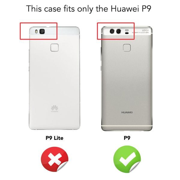 NALIA Handyhülle für Huawei P9, Ultra-Slim Silikon Case Cover Hülle, Dünne Crystal Schutzhülle, Etui Handy-Tasche Phone Bumper, softe TPU Gummihülle für P-9 Smartphone - Transparent Weiß – Bild 4