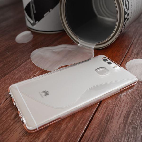 NALIA Handyhülle für Huawei P9, Ultra-Slim Silikon Case Cover Hülle, Dünne Crystal Schutzhülle, Etui Handy-Tasche Phone Bumper, softe TPU Gummihülle für P-9 Smartphone - S-Line Transparent – Bild 4