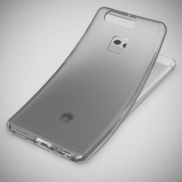 NALIA Handyhülle für Huawei P9, Ultra-Slim Silikon Case Cover Hülle, Dünne Crystal Schutzhülle, Etui Handy-Tasche Back-Cover Phone Bumper, softe TPU Gummihülle für P-9 Smartphone - S-Line Grau – Bild 7