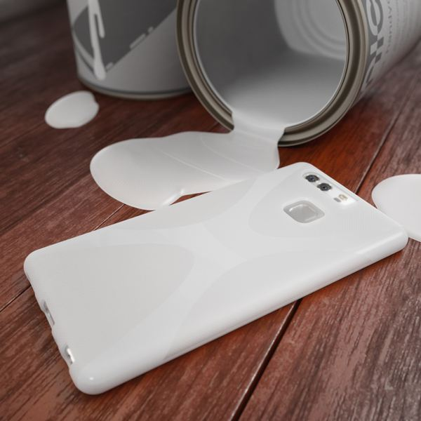 NALIA Handyhülle für Huawei P9, Ultra-Slim Silikon Case Cover Hülle, Dünne Crystal Schutzhülle, Etui Handy-Tasche Back-Cover Phone Bumper, softe TPU Gummihülle für P-9 Smartphone - X-Line Weiß – Bild 6