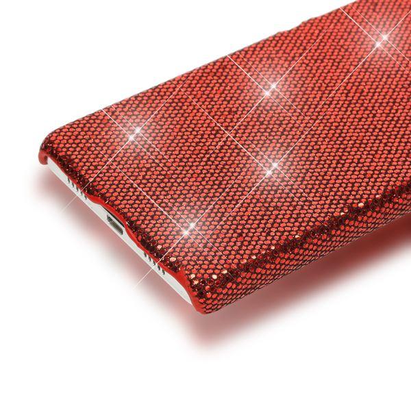 NALIA Handyhülle für Huawei P8 Lite, Glitzer Slim Hard-Case Back-Cover Hülle Schutzhülle, Handy-Tasche im Glitter Sparkle Design, Dünnes Bling Strass Etui Skin für P 8 Lite Smart-Phone - Rot – Bild 3