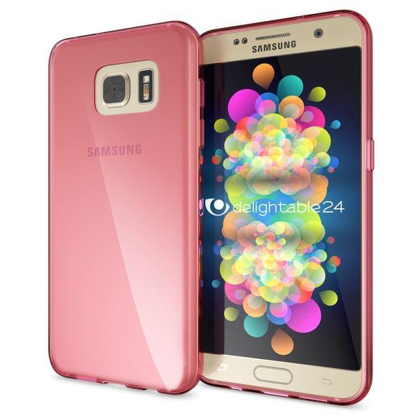 NALIA Handyhülle kompatibel mit Samsung Galaxy S7, Ultra-Slim Silikon Case Cover Hülle, Dünne Crystal Schutzhülle Etui Handy-Tasche Back-Cover Bumper, TPU Smart-Phone Gummihülle - Transparent Pink – Bild 1