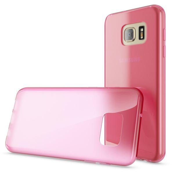 NALIA Handyhülle kompatibel mit Samsung Galaxy S7, Ultra-Slim Silikon Case Cover Hülle, Dünne Crystal Schutzhülle Etui Handy-Tasche Back-Cover Bumper, TPU Smart-Phone Gummihülle - Transparent Pink – Bild 4