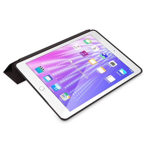 NALIA Smart-Case kompatibel mit iPad Pro 9,7 (2016), Slim Tablet Cover Schutzhülle, Kunst-leder Hardcase Multi-Ständer Tasche, Display-Schutz & Backcover Flip-Case Klapphülle Sleeve - Schwarz – Bild 8
