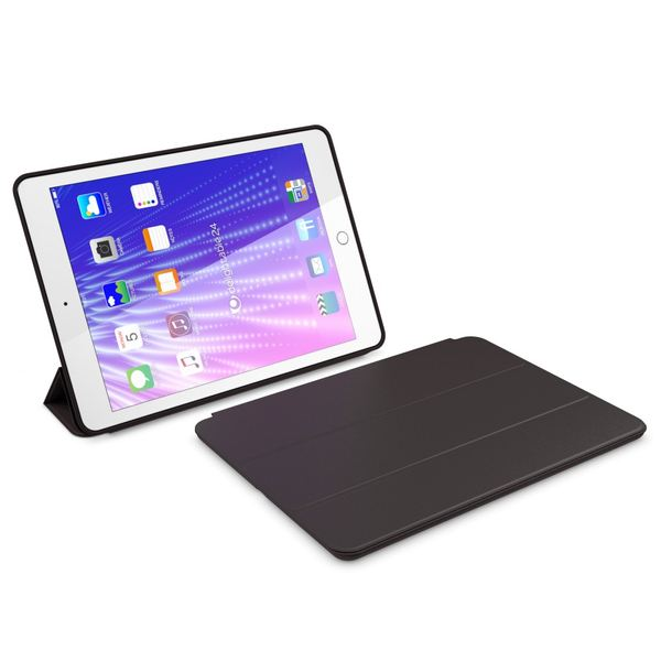 NALIA Smart-Case kompatibel mit iPad Pro 9,7 (2016), Slim Tablet Cover Schutzhülle, Kunst-leder Hardcase Multi-Ständer Tasche, Display-Schutz & Backcover Flip-Case Klapphülle Sleeve - Schwarz – Bild 6