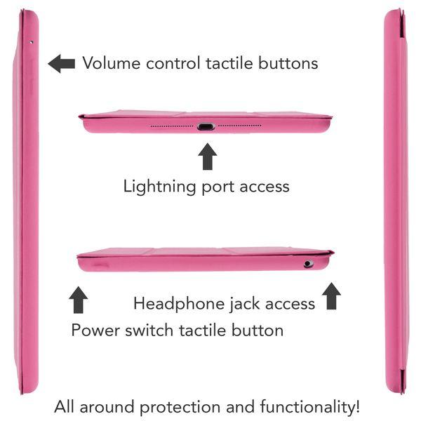 NALIA Smart-Case für Apple iPad Air 2, Ultra-Slim Cover Dünne Tablet Schutzhülle, Kunst-leder Hardcase Multi-Ständer Tasche, Display-Schutz & Backcover Flip-Case Klapphülle Sleeve - Beige Grau – Bild 6