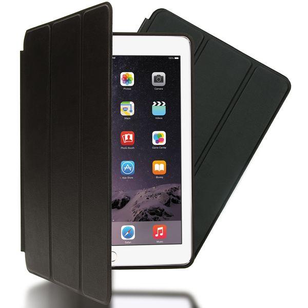 NALIA Smart-Case für Apple iPad Air 2, Ultra-Slim Cover Dünne Tablet Schutzhülle, Kunst-leder Hardcase Multi-Ständer Tasche, Display-Schutz & Backcover Flip-Case Klapphülle Sleeve - Schwarz – Bild 1