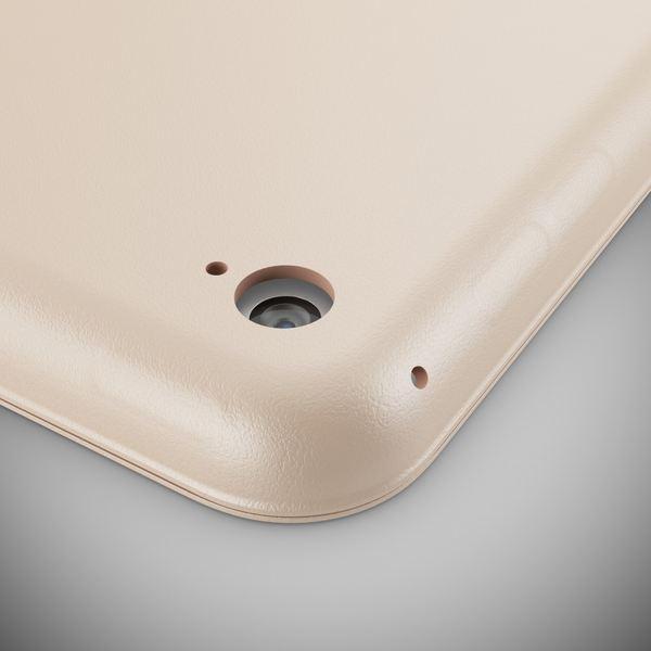 NALIA Smart-Case für Apple iPad Mini 4, Ultra-Slim Cover Dünne Tablet Schutzhülle, Kunst-leder Hardcase Multi-Ständer Tasche, Display-Schutz & Backcover Flip-Case Klapphülle Sleeve - Beige Grau – Bild 3