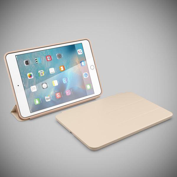 NALIA Smart-Case für Apple iPad Mini 4, Ultra-Slim Cover Dünne Tablet Schutzhülle, Kunst-leder Hardcase Multi-Ständer Tasche, Display-Schutz & Backcover Flip-Case Klapphülle Sleeve - Beige Grau – Bild 6