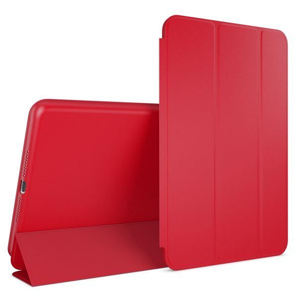 NALIA Smart-Case kompatibel mit iPad Mini 4, Ultra-Slim Cover Dünne Tablet Schutzhülle, Kunst-leder Hardcase Multi-Ständer Tasche, Display-Schutz & Backcover Flip-Case Klapphülle Sleeve - Rot – Bild 1