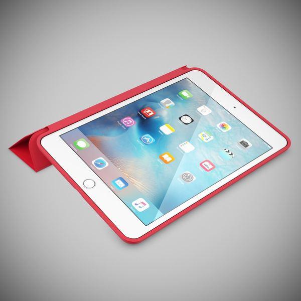 NALIA Smart-Case für Apple iPad Mini 4, Ultra-Slim Cover Dünne Tablet Schutzhülle, Kunst-leder Hardcase Multi-Ständer Tasche, Display-Schutz & Backcover Flip-Case Klapphülle Sleeve - Rot – Bild 2