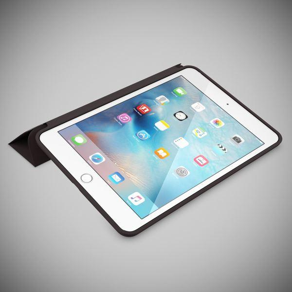 NALIA Smart-Case für Apple iPad Mini 4, Ultra-Slim Cover Dünne Tablet Schutzhülle, Kunst-leder Hardcase Multi-Ständer Tasche, Display-Schutz & Backcover Flip-Case Klapphülle Sleeve - Schwarz – Bild 2