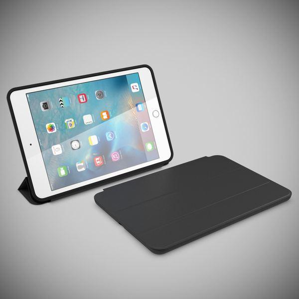 NALIA Smart-Case für Apple iPad Mini 4, Ultra-Slim Cover Dünne Tablet Schutzhülle, Kunst-leder Hardcase Multi-Ständer Tasche, Display-Schutz & Backcover Flip-Case Klapphülle Sleeve - Schwarz – Bild 6