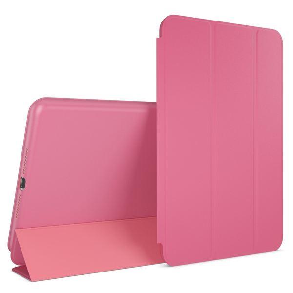 NALIA Smart-Case kompatibel mit iPad Mini 4, Ultra-Slim Cover Dünne Tablet Schutzhülle, Kunst-leder Hardcase Multi-Ständer Tasche, Display-Schutz & Backcover Flip-Case Klapphülle Sleeve - Pink – Bild 1