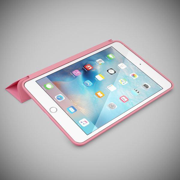 NALIA Smart-Case kompatibel mit iPad Mini 4, Ultra-Slim Cover Dünne Tablet Schutzhülle, Kunst-leder Hardcase Multi-Ständer Tasche, Display-Schutz & Backcover Flip-Case Klapphülle Sleeve - Pink – Bild 2