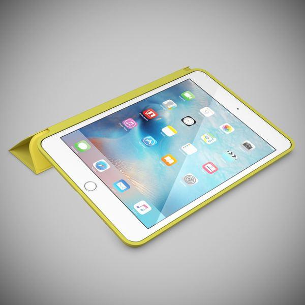 NALIA Smart-Case für Apple iPad Mini 4, Ultra-Slim Cover Dünne Tablet Schutzhülle, Kunst-leder Hardcase Multi-Ständer Tasche, Display-Schutz & Backcover Flip-Case Klapphülle Sleeve - Gelb – Bild 2