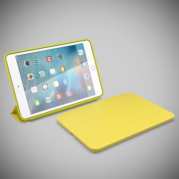 NALIA Smart-Case kompatibel mit iPad Mini 4, Ultra-Slim Cover Dünne Tablet Schutzhülle, Kunst-leder Hardcase Multi-Ständer Tasche, Display-Schutz & Backcover Flip-Case Klapphülle Sleeve - Gelb – Bild 6