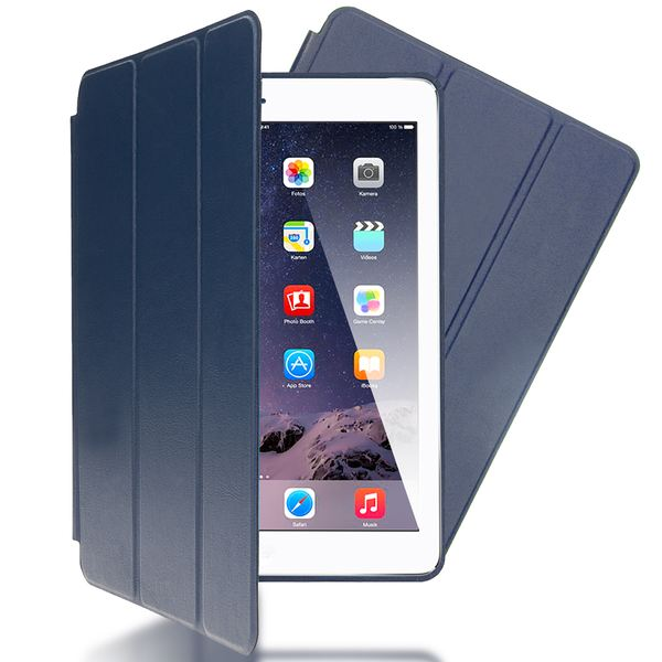 NALIA Smart-Case kompatibel mit iPad Air 1, Ultra-Slim Cover Dünne Tablet Schutzhülle, Kunst-leder Hardcase Multi-Ständer Tasche, Display-Schutz & Backcover Flip-Case Klapphülle Sleeve - Dunkelblau – Bild 1