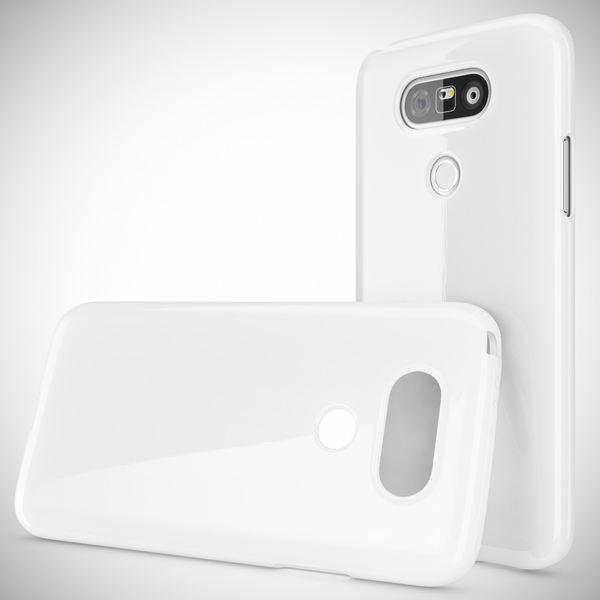 NALIA Handyhülle für LG G5, Ultra-Slim TPU Silikon Jelly Case, Dünnes Cover Gummi Schutzhülle Phone Skin, Etui Handy-Tasche Backcover Bumper LG G 5 Smartphone - Weiß – Bild 4