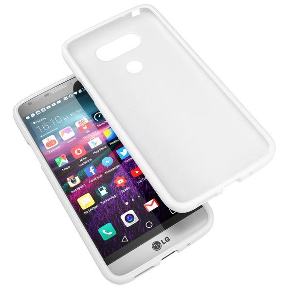 NALIA Handyhülle für LG G5, Ultra-Slim TPU Silikon Jelly Case, Dünnes Cover Gummi Schutzhülle Phone Skin, Etui Handy-Tasche Backcover Bumper LG G 5 Smartphone - Weiß – Bild 6